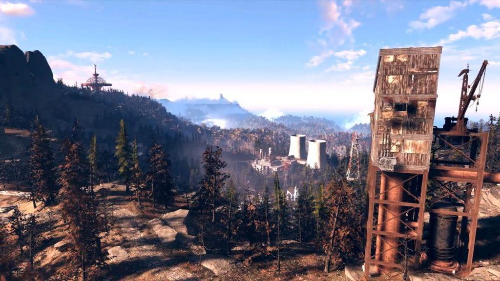 Fallout 76 Landschaft 4 mit Kernkraftwerk