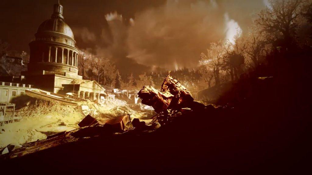Fallout 76 Monster vor Gebäude