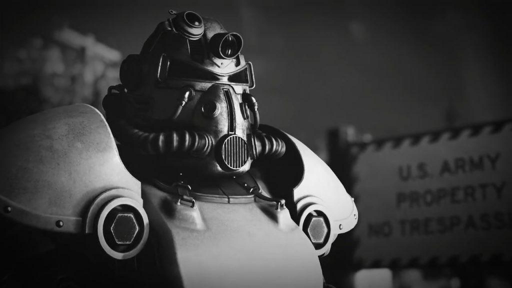 Fallout 76 Schwarz Weiß Powerarmor