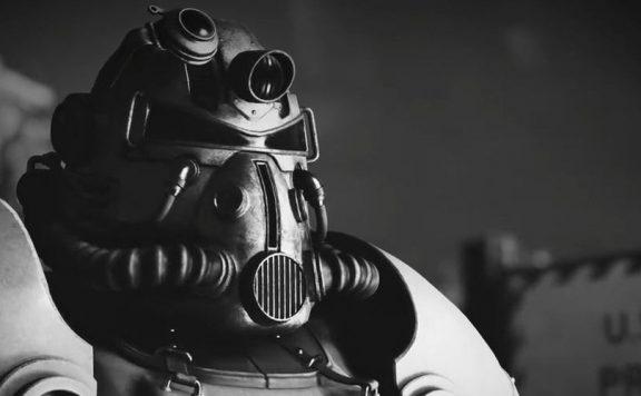 Fallout 76 Schwarz Weiß Powerarmor Titel
