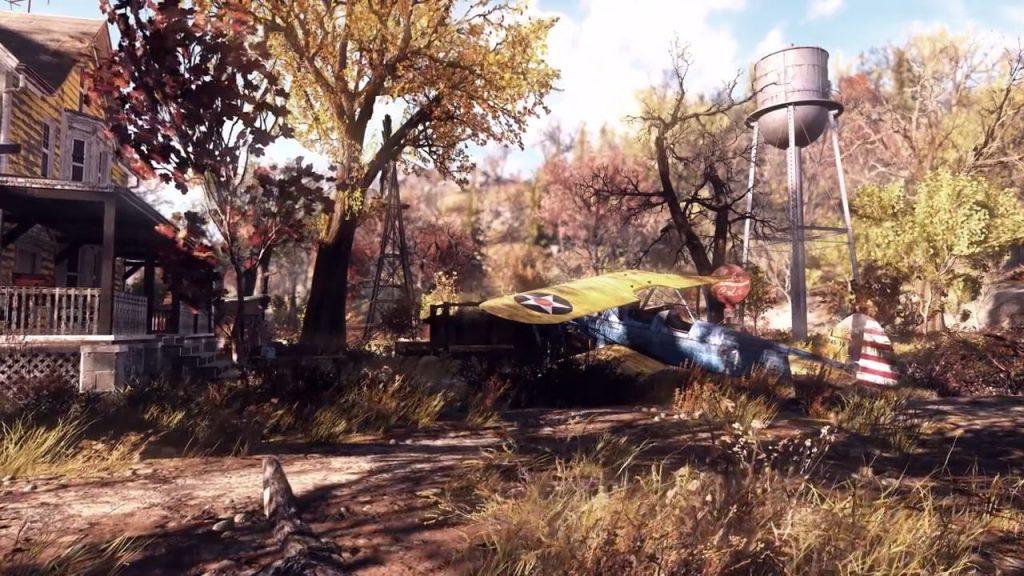 Fallout 76 abgestürztes Flugzeug