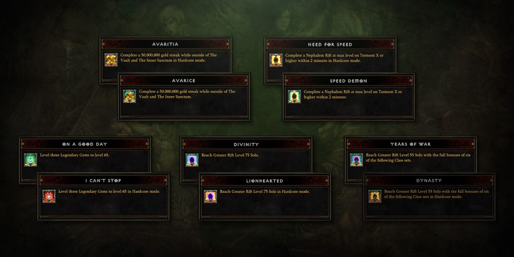 Diablo 3 Season 14 Errungenschaften