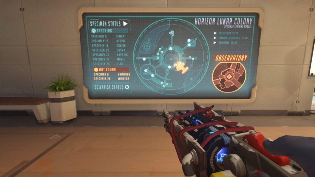 Overwatch Mondkolonie Horizon Karte mit Versuchsobjekten