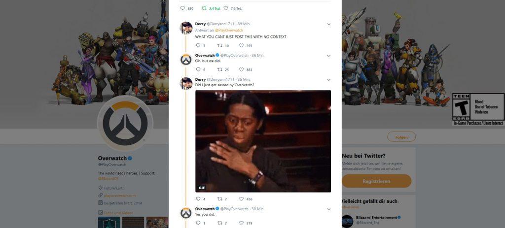 Overwatch Twitter Blizzard trollt