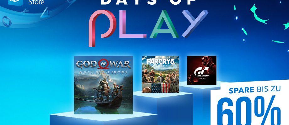 Days of Play Sale im PS Store – Bis zu 60% Rabatt auf viele PS4 Spiele