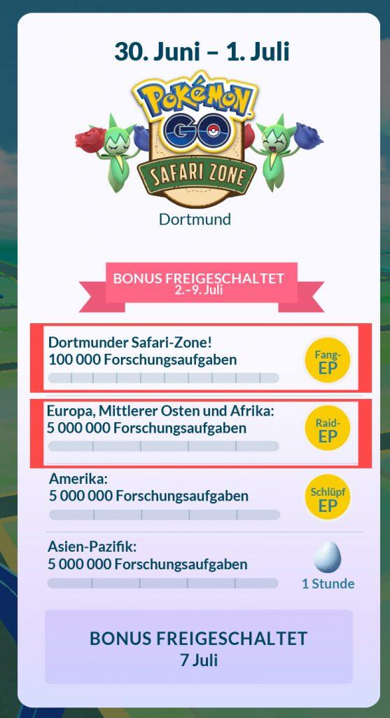 Safari-Zone Aufgaben Mein-MMO