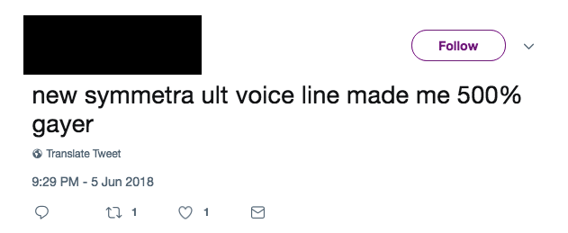 Symmetra Twitter Reaction 2