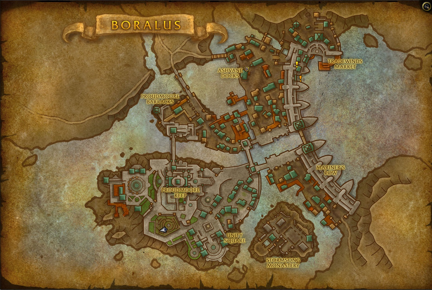 WoW BfA DandD Group Map