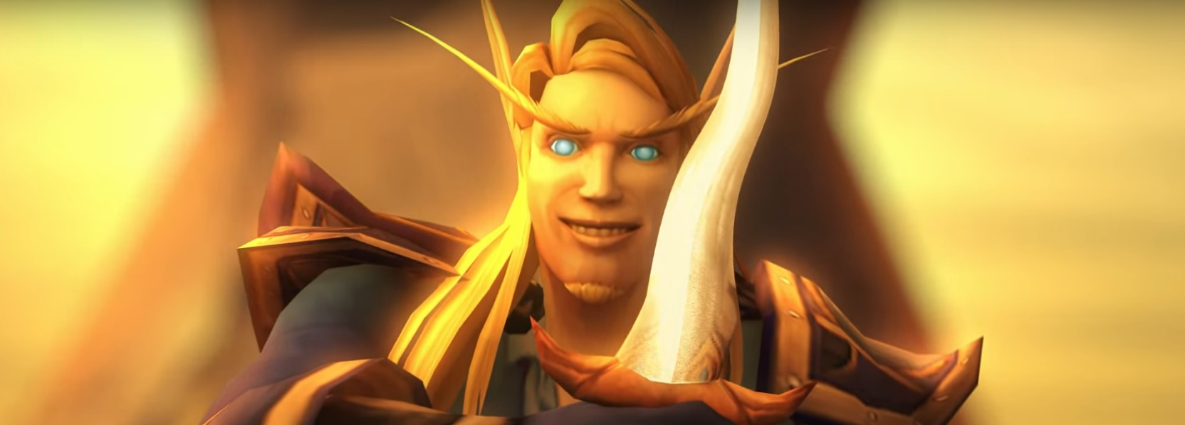 WoW High Elf Grinning