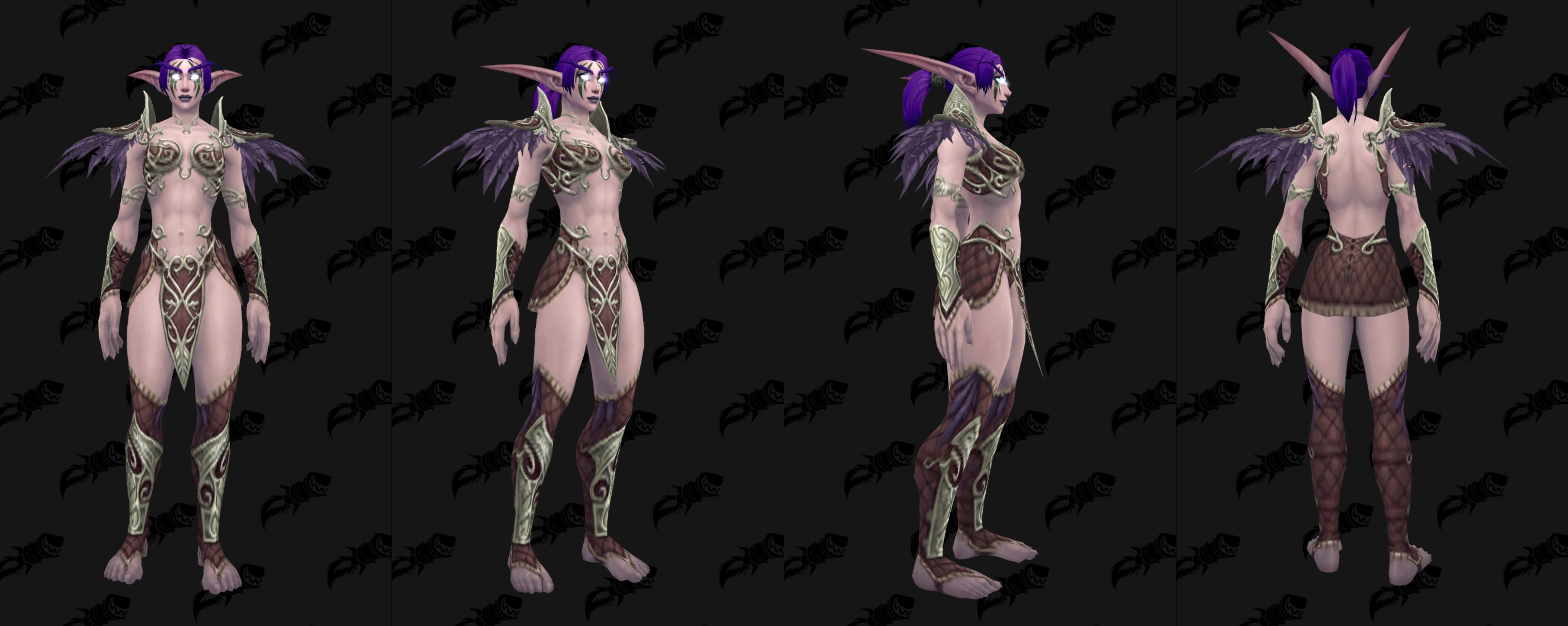 WoW Nightelf Armor Sentinel Female