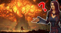 WoW Teldrassil Burning Human Question title
