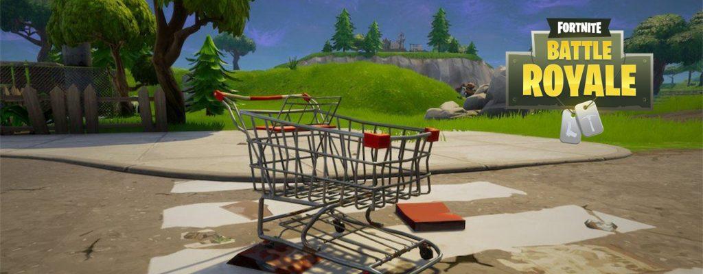 So nutzt Ihr die Einkaufswagen in Fortnite: Battle Royale zu eurem Vorteil!