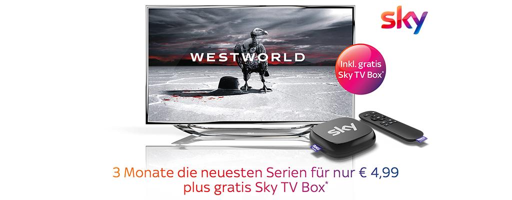 Sky Ticket-Angebot mit Serien-Highlights – 3 Monate für einmalig 4,99 Euro