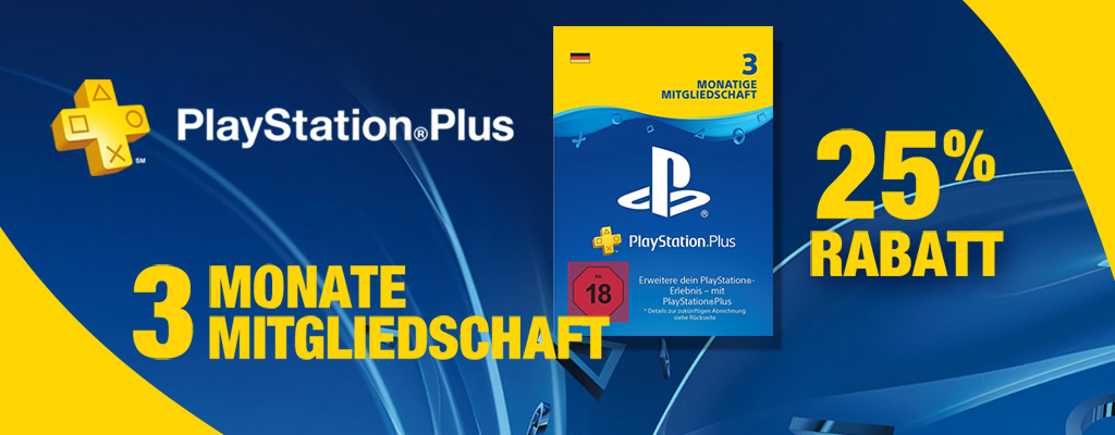 25 rabatt auf 3 monate playstation plus angebot bei. Black Bedroom Furniture Sets. Home Design Ideas