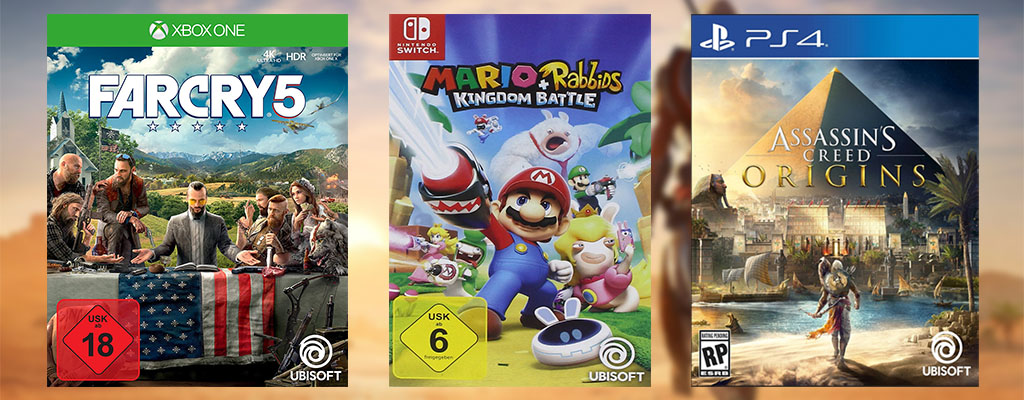 Ubisoft Summer Sale bei Amazon – AC: Origins, Far Cry 5 und Mario & Rabbids