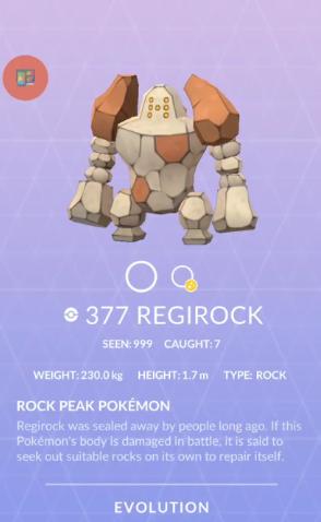 Pokémon GO Regirock