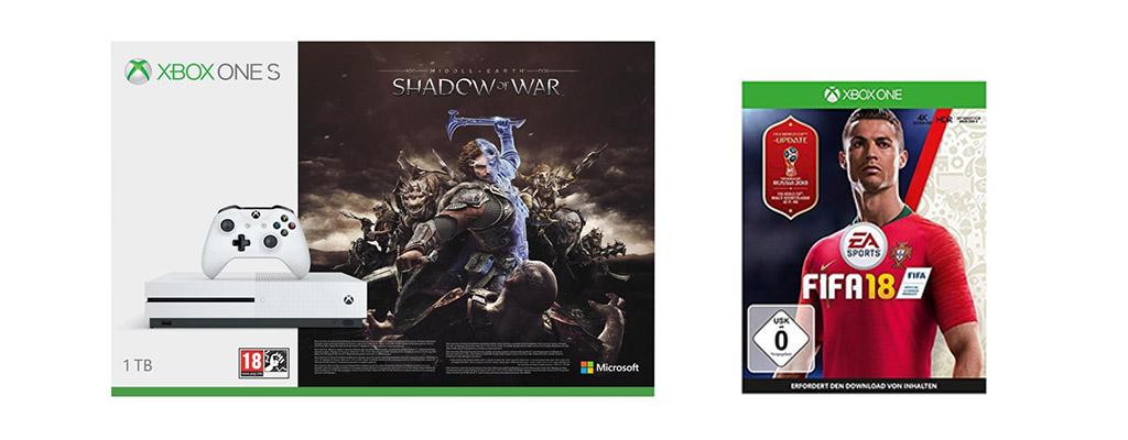 Xbox One S, Xbox Live Gold und Spiele für Xbox One im Amazon-Angebot