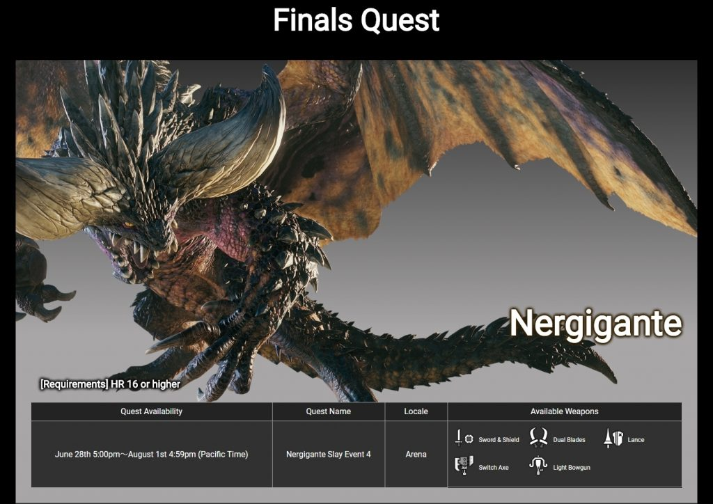 monster hunter world nergigante championship