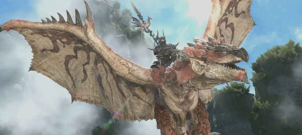 final fantasy xiv rathalos mount header