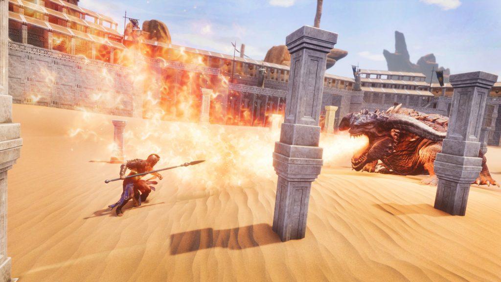 Conan Exiles Aquilonia DLC Drache im Colosseum