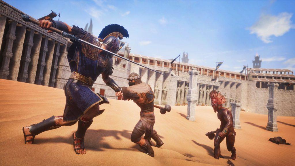 Conan Exiles Aquilonia DLC Kampf im Colosseum