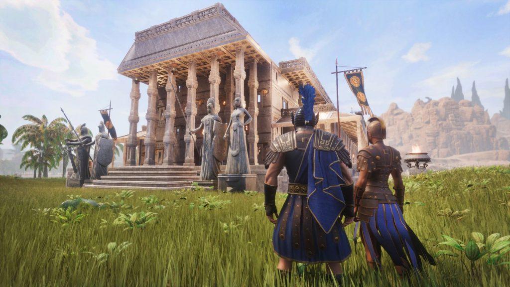 Conan Exiles Aquilonia DLC Römischer Stadtpalast von außen