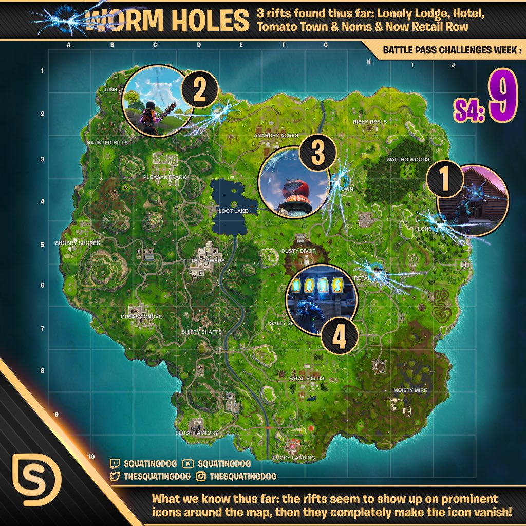 Fortnite-Risse-Map