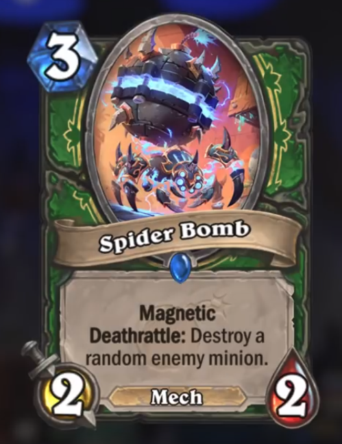 Hearthstone Boomsday Spider Bomb