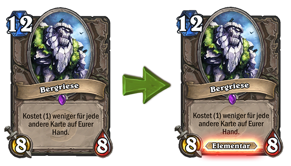 Hearthstone Mountain Giant Change