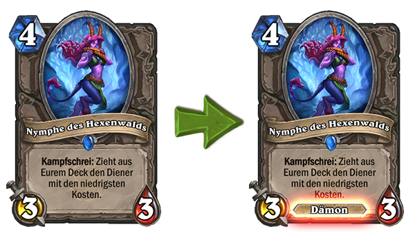 Hearthstone Nymph Change