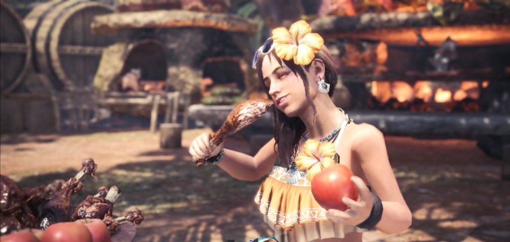 Monster-Hunter-World-Wildhüterin-Sommer-Skin