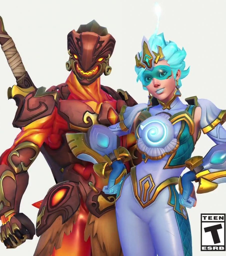 Overwatch League All Stars Skins Genji und Tracer solo