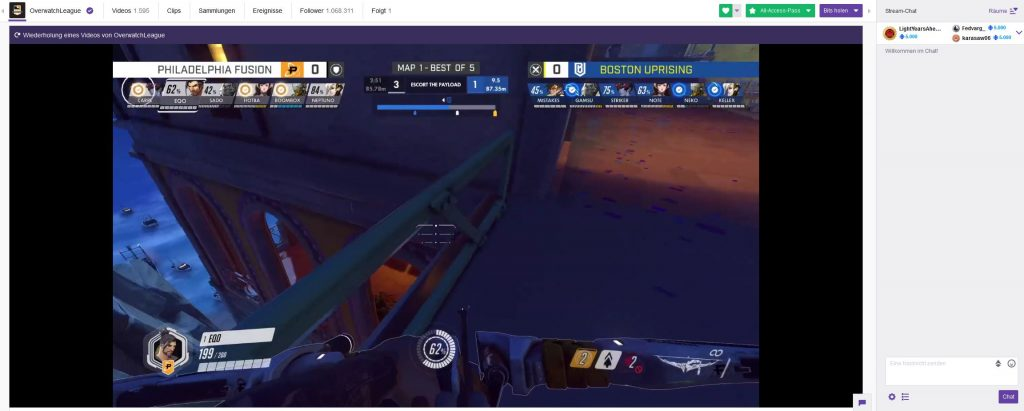 Overwatch League Twitch Screenshot