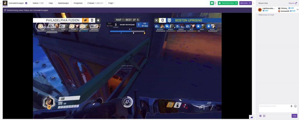 Overwatch League Twitch Screenshot