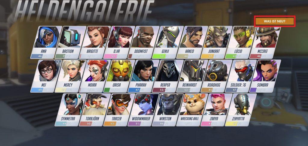 Overwatch Screenshot Heldengalerie