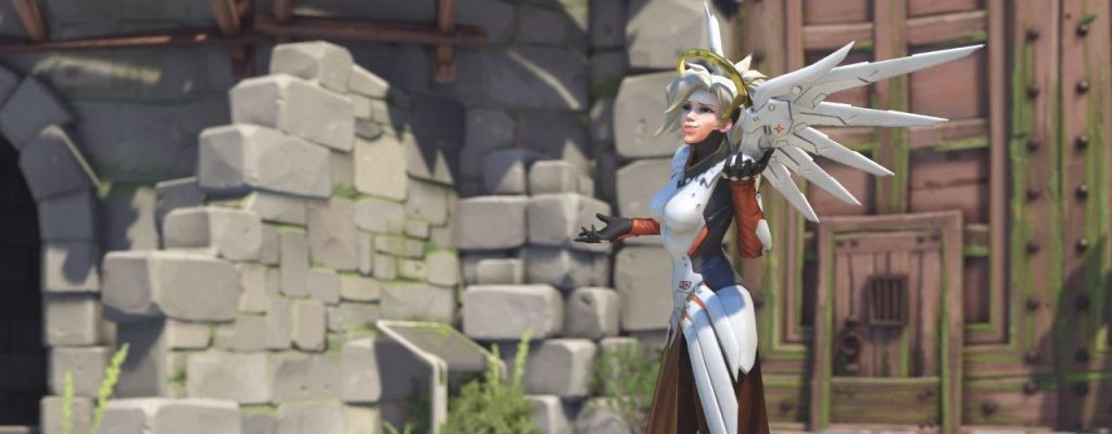 Overwatch Screenshot Mercy Shrug Titel