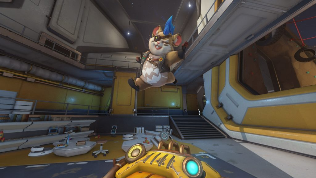 Overwatch Screenshot Wrecking Ball Highlight Intro Hamsterrad grinsend