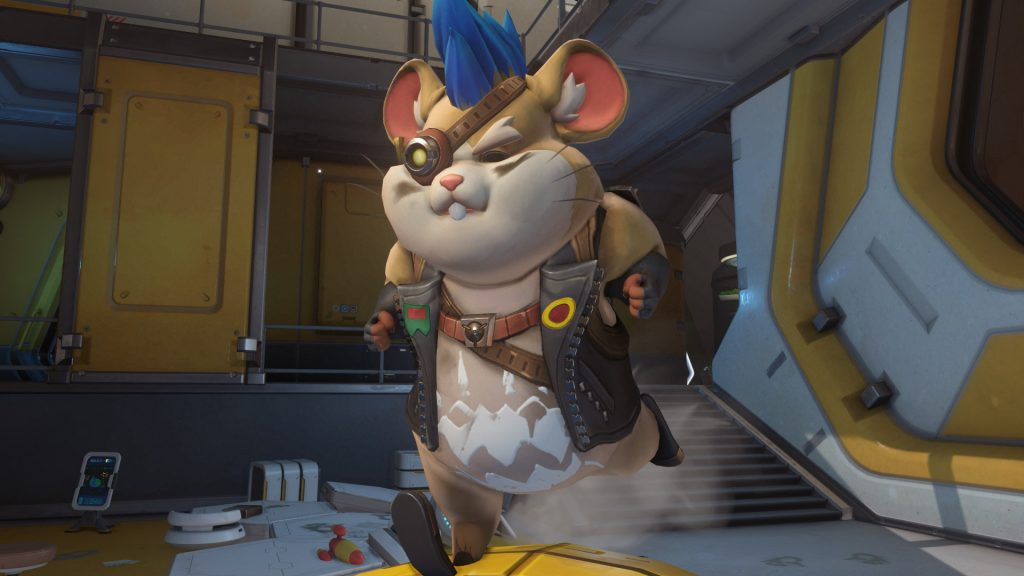 Overwatch Screenshot Wrecking Ball Intro Hamsterrad angestrengt