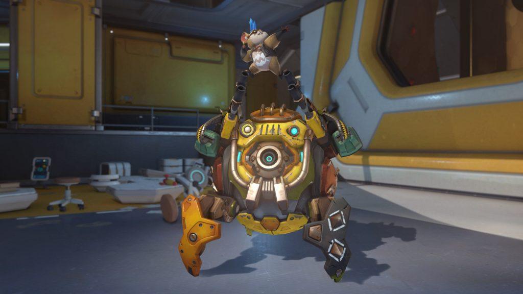 Overwatch Screenshot Wrecking Ball Pose Hoch Hinaus