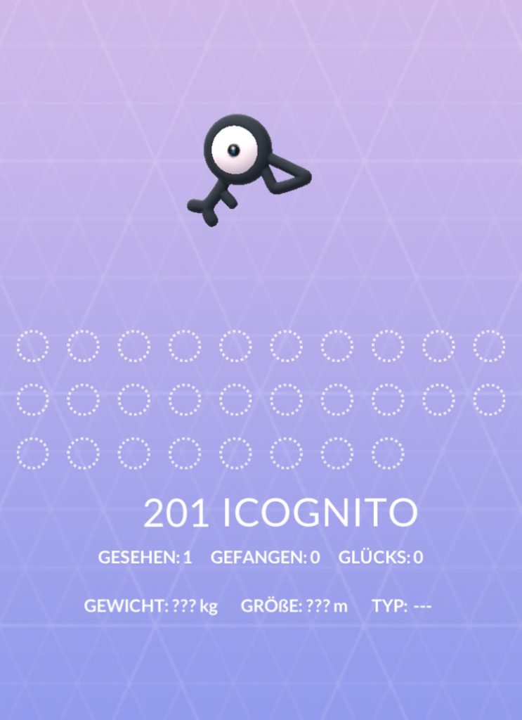 Pokémon GO Icognito Dex