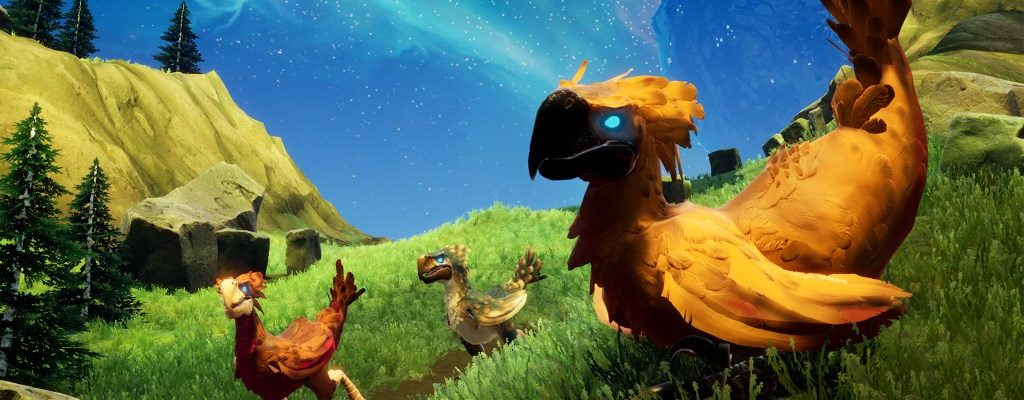 Bekämpft Riesenvögel in den Highlands des Coop-Survival-MMOs Rend