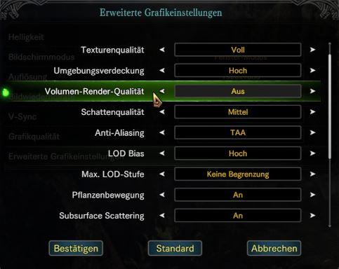 Volumen-Render-Qualität