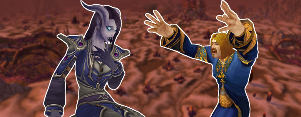 WoW Draenei Human angry silithus title
