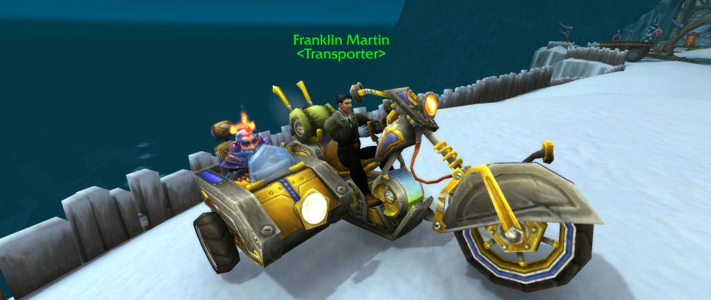 WoW Screenshot Chopper mit Chauffeur