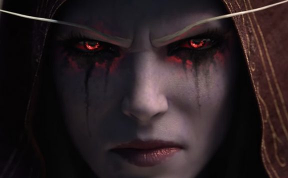 WoW Sylvanas Face title red eyes