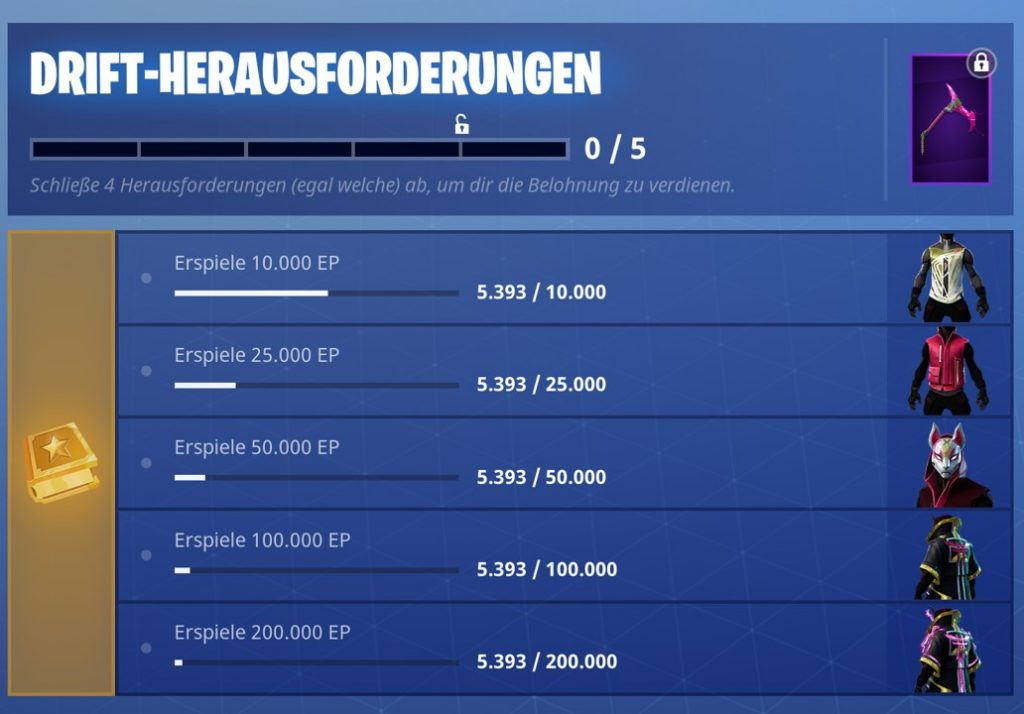 fortnite-drift-herausforderungen