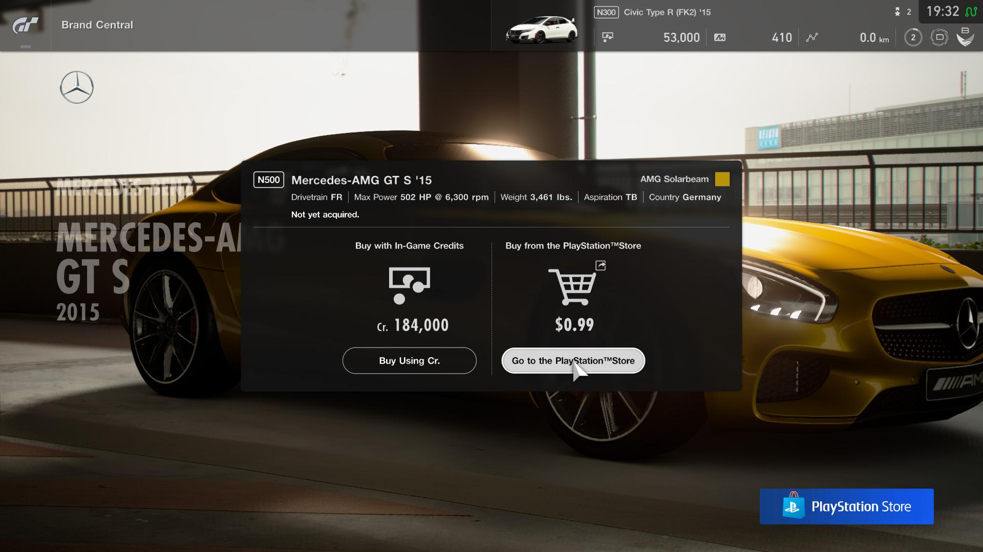 Gran Turismo Sport Mikrotransaktionen