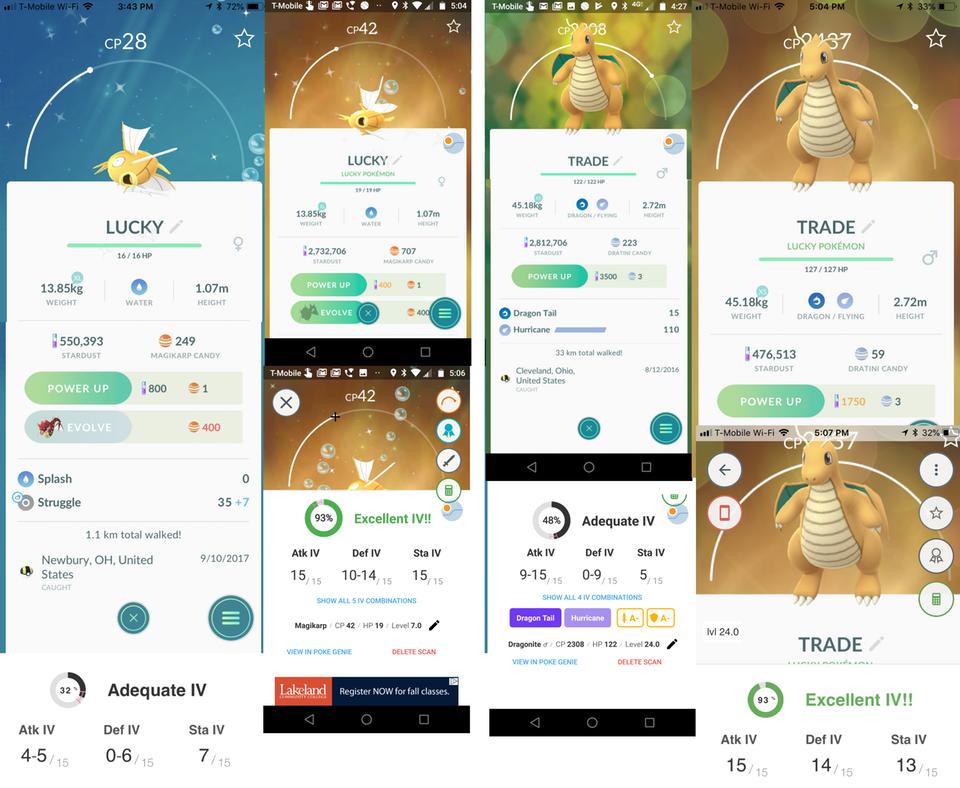 Pokémon GO Tausch Lucky IV