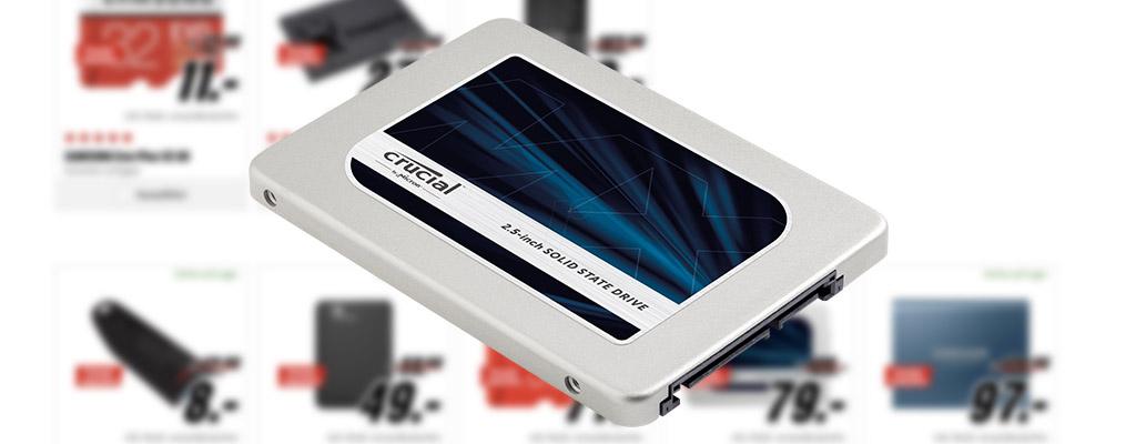Rabatte zu später Stunde – 525 GB SSD und externe Festplatten im Angebot