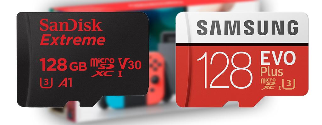Speicherkarten für eure Nintendo Switch im Angebot bei Amazon